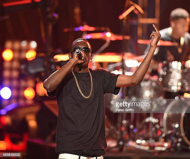Rapper Bobby Shmurda performs onstage at the BET Hip Hop Awards 2014 at Boisfeuillet Jones Atlanta Civic Center on September 20 2014 in Atlanta...
