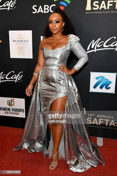 Rapper Boity Thulo during the 13th annual South African Film and Television Awards at the Sun City Superbowl on March 02 2019 in Rustenburg South...