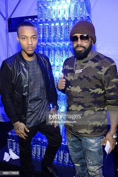 Rapper Bow Wow and producer Jermaine Dupri attend Talent Resources Sports presents MAXIM BIG GAME WEEKEND sponsored by AQUAhydrat Heavenly Resorts...