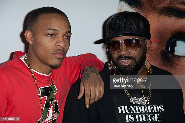 Rapper Bow Wow and producer Jermaine Dupri attend the Ride Along screening at AMC Loews Lincoln Square on January 15 2014 in New York City