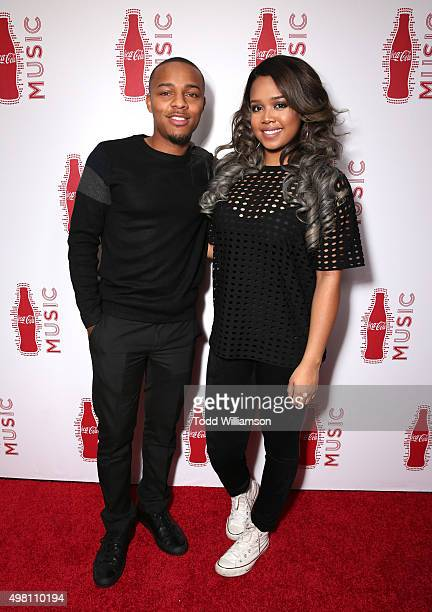 Rapper Bow Wow and singer Gabi Wilson attend the 2015 American Music Awards Pre Party with CocaCola at the Conga Room on November 20 2015 in Los...