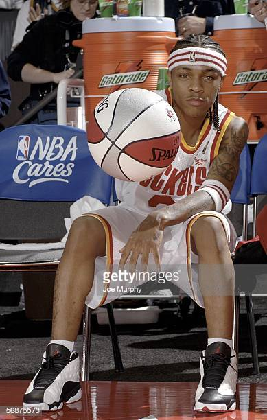 Rapper Bow Wow of team Clutch City gets ready for the McDonald's NBA AllStar Celebrity Game during NBA AllStar Weekend at the George R Brown...