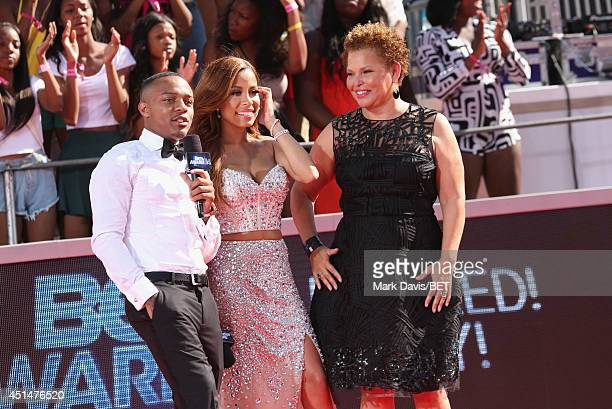Rapper Bow Wow TV personality Keshia Chante and Chairman CEO of BET Debra L Lee attend the BET Awards PreShow during the 2014 BET Experience At LA...