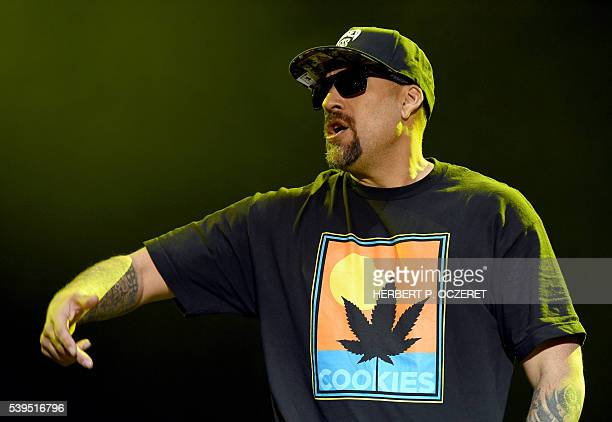 Rapper BReal of the band Cypress Hill performs at the Red Stage during the Nova Rock 2016 Festival on June 11 2016 in Nickelsdorf / AFP / APA /...