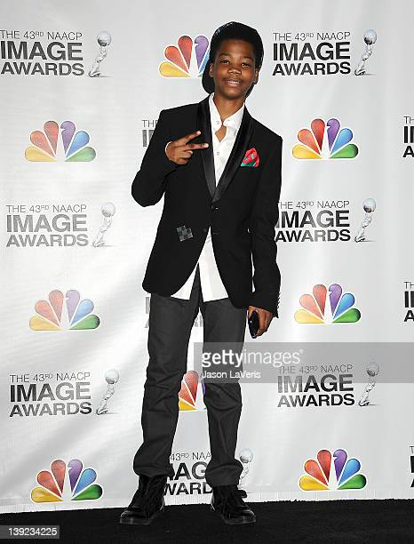 Rapper Brian 'Astro' Bradley poses in the press room at the 43rd annual NAACP Image Awards at The Shrine Auditorium on February 17 2012 in Los...