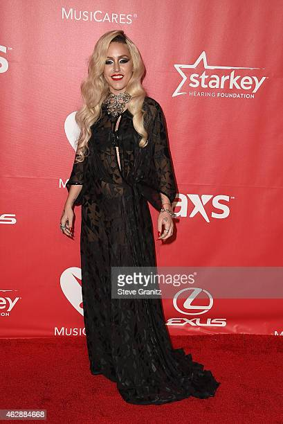 Rapper Brooke Candy attends the 25th anniversary MusiCares 2015 Person Of The Year Gala honoring Bob Dylan at the Los Angeles Convention Center on...