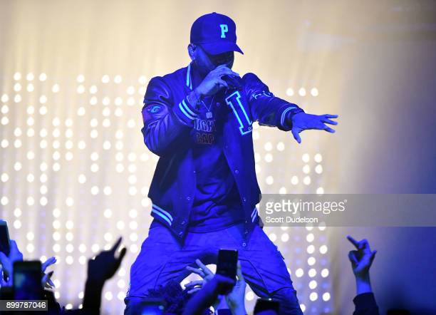 Rapper Bryson Tiller performs onstage at The Observatory on December 29 2017 in Santa Ana California