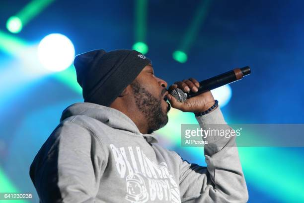 Rapper Bun B of UGK and The Suffers open when ZZ Top performs during Super Bowl Live at Root Memorial Square Park in Houston Texas on February 4 2017