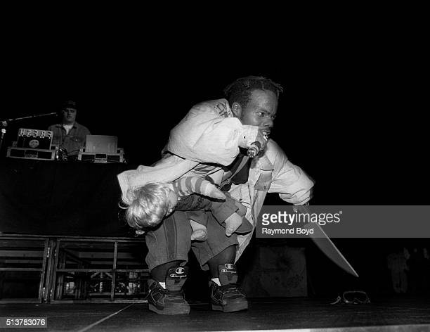 Rapper Bushwick Bill from The Geto Boys performs at the New Regal Theater in Chicago Illinois in December 1991