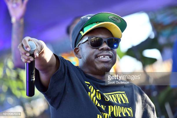 Rapper Bushwick Bill of The Geto Boys performs onstage during Beach Goth Festival at Los Angeles State Historic Park on August 5 2018 in Los Angeles...