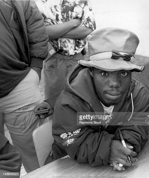 Rapper Bushwick Bill of The Geto Boys poses for photos at George's Music Room in Chicago Illinois in SEPTEMBER 1992