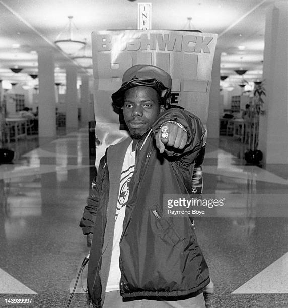Rapper Bushwick Bill of The Geto Boys poses for photos at the Harold Washington Library in Chicago Illinois in SEPTEMBER 1992