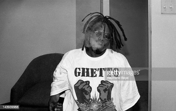 Rapper Bushwick Bill poses for photos backstage at the Regal Theater in Chicago Illinois in August 1995