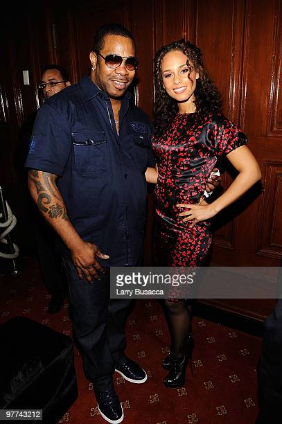 Rapper Busta Rhymes and musician Alicia Keys attend Gotham Magazine's Annual Gala hosted by Alicia Keys and presented by Bing at Capitale on March 15...