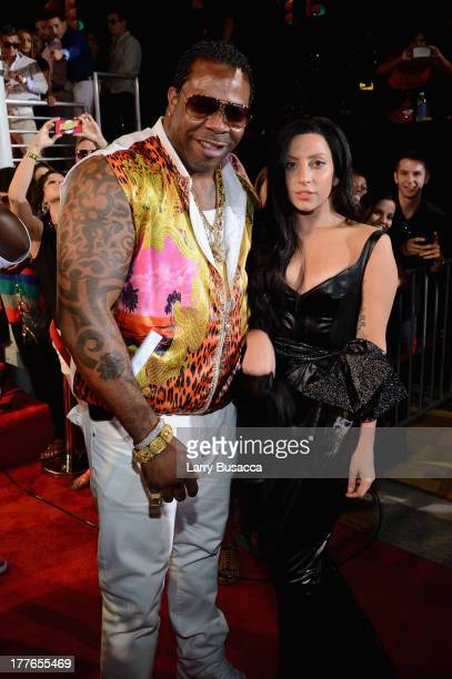Rapper Busta Rhymes and singer Lady Gaga attend the 2013 MTV Video Music Awards at the Barclays Center on August 25 2013 in the Brooklyn borough of...