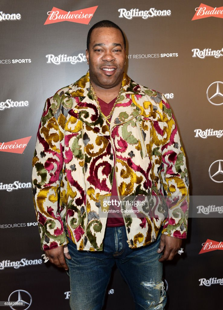Rapper Busta Rhymes at the Rolling Stone Live: Houston presented by Budweiser and Mercedes-Benz on February 4, 2017 in Houston, Texas. Produced in partnership with Talent Resources Sports.