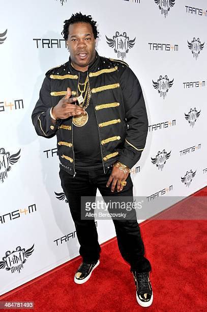 Rapper Busta Rhymes attends the william hosted third annual TRANS4M concert benefitting the iamangel Foundation at Avalon on January 23 2014 in...