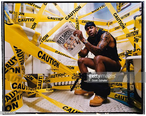 Rapper Busta Rhymes is photographed for The Source Magazine in 2002 PUBLISHED IMAGE