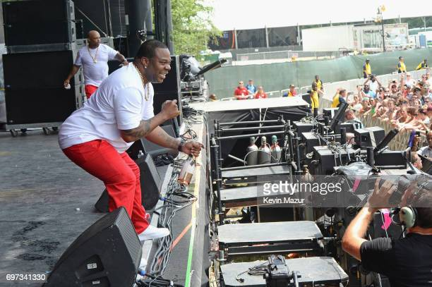 Rapper Busta Rhymes performs onstage during the 2017 Firefly Music Festival on June 18 2017 in Dover Delaware