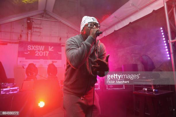 Rapper Cam'ron performs on stage at the Hip-Hop Beat Showcase at TuneIn Studios @ SXSW 2017 on Thursday, March 16th 2017 in Austin, TX.