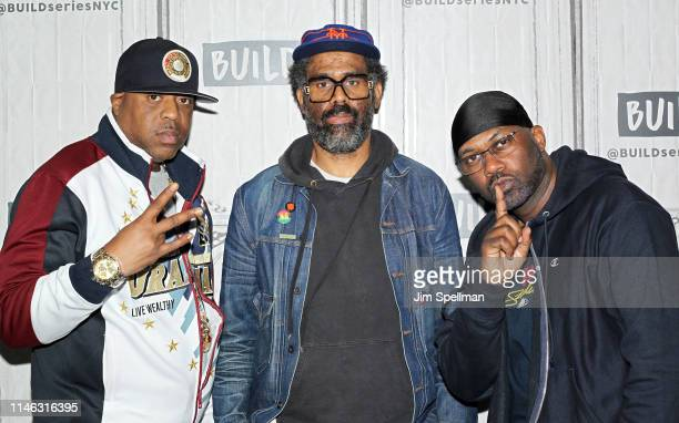 """Rapper Cappadonna, filmmaker Sacha Jenkins and rapper Master Killer attend the Build Series to discuss """"Wu-Tang Clan: Of Mics and Men"""" at Build..."""