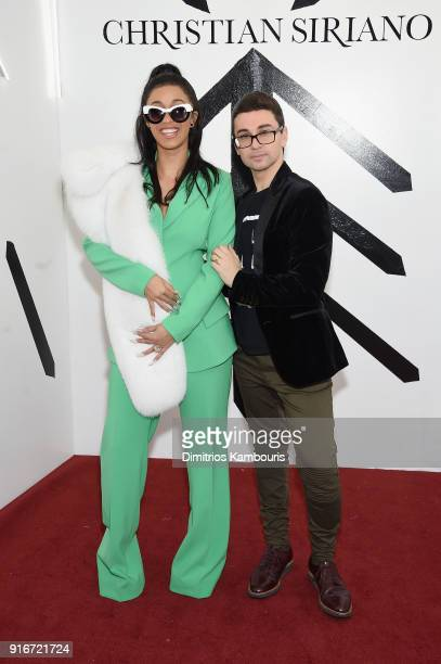 Rapper Cardi B and fashion designer Christian Siriano attend the Christian Siriano fashion show during New York Fashion Week at Grand Lodge on...