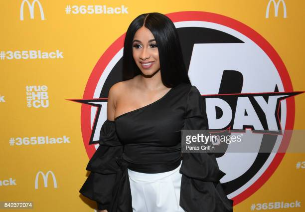 Rapper Cardi B at 2017 LudaDay Celebrity Basketball Game at Morehouse College Forbes Arena on September 3 2017 in Atlanta Georgia