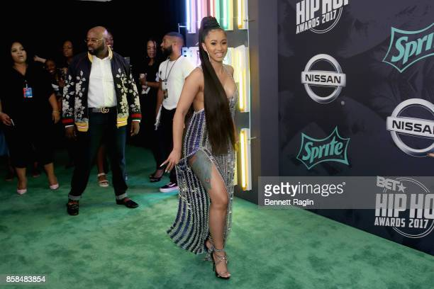 Rapper Cardi B attends the BET Hip Hop Awards 2017 at The Fillmore Miami Beach at the Jackie Gleason Theater on October 6 2017 in Miami Beach Florida