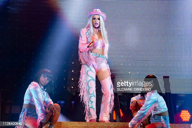 Rapper Cardi B performs at RodeoHouston on March 1 2019 in Houston Texas The rodeo said that the rapper set an alltime attendance record of 75580...