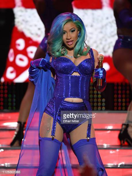 Rapper Cardi B performs during the 2019 Adult Video News Awards at The Joint inside the Hard Rock Hotel & Casino on January 26, 2019 in Las Vegas,...