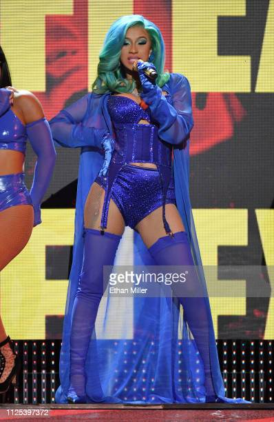 Rapper Cardi B performs during the 2019 Adult Video News Awards at The Joint inside the Hard Rock Hotel Casino on January 26 2019 in Las Vegas Nevada