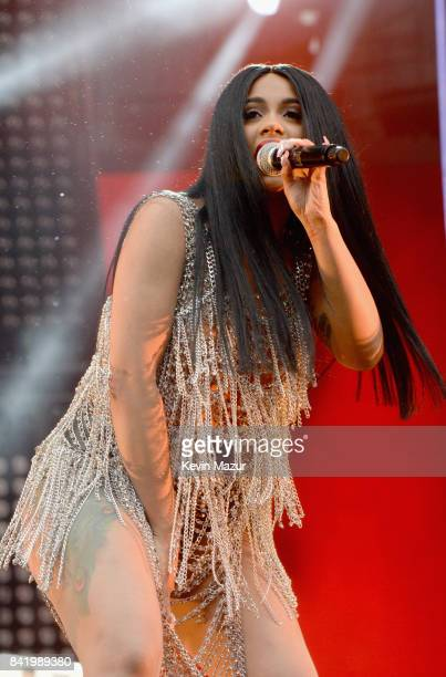 Rapper Cardi B performs onstage during the 2017 Budweiser Made in America festival Day 1 at Benjamin Franklin Parkway on September 2 2017 in...