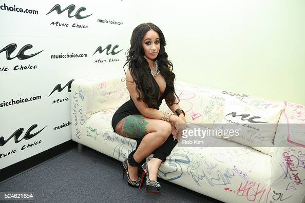 Rapper Cardi B Visits Music Choice On April 26, 2016 In