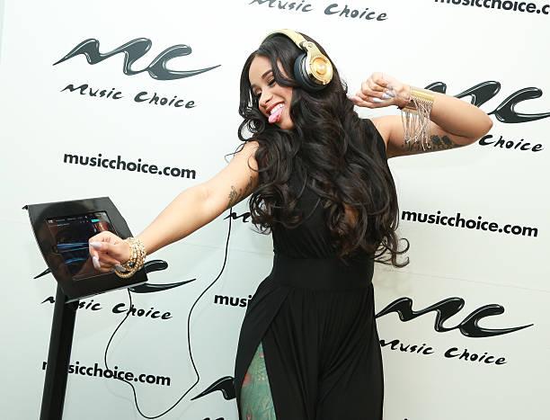 Cardi B Rap: Rapper Cardi B Visits Music Choice Photos And Images