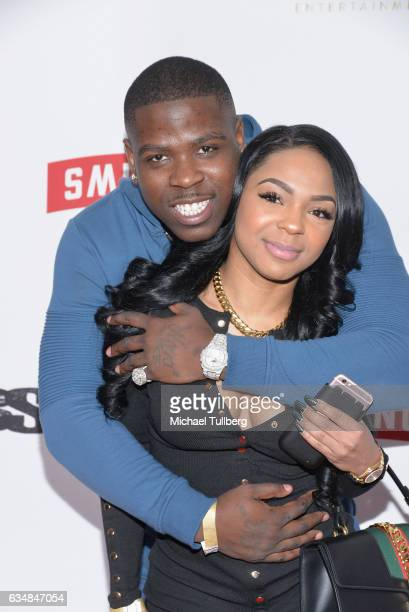 Rapper Casanova and Jasmere Corbett attend the Primary Wave 11th Annual PreGRAMMY Party at The London West Hollywood on February 11 2017 in West...