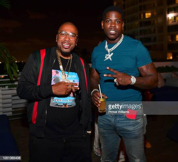 Rapper Casanova and Noreaga attend Baller Alert Dinner series at Soho Beach House on October 6 2018 in Miami Beach Florida