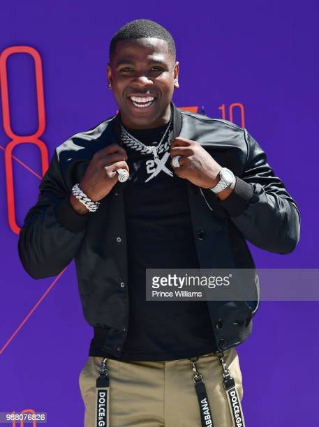 Rapper Casanova arrives to the 2018 BET Awards held at Microsoft Theater on June 24 2018 in Los Angeles California