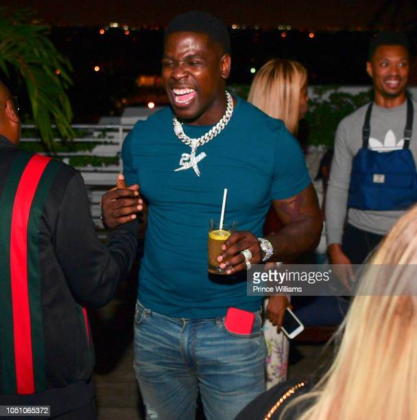 Rapper Casanova attends Baller Alert/Dusse Dinner series at Soho Beach House on October 6 2018 in Miami Beach Florida