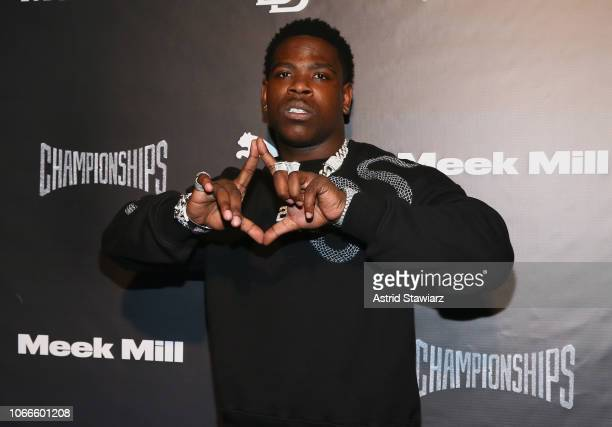 Rapper Casanova attends Meek Mill and PUMA celebrate CHAMPIONSHIPS album release party at PHD at the Dream Downtown on November 29 2018 in New York...