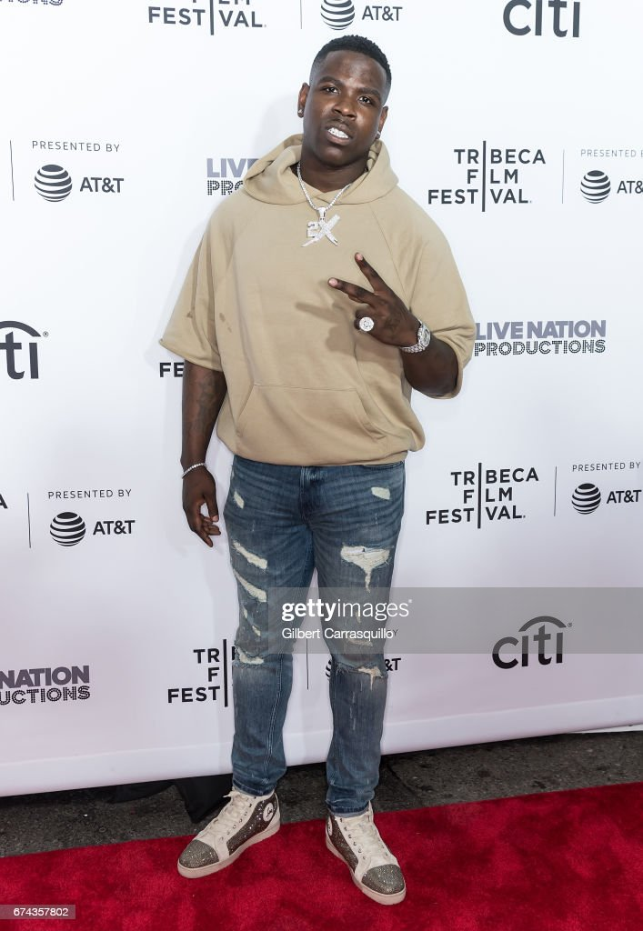 Rapper Casanova attends the 'Can't Stop, Won't Stop: The Bad Boy Story' Premiere at Beacon Theatre on April 27, 2017 in New York City.