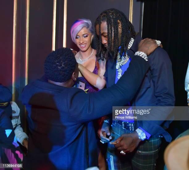 Rapper Casanova Cardi B and Offset attend The Big Game weekend Party at Oak Nightclub on February 2 2019 in Atlanta Georgia