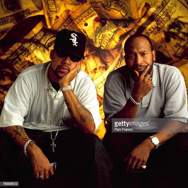Rapper Chad Pimp C Butler and Bernard Bun B Freeman of Underground Kingz poses for a portrait in Houston on July 25 2001 in Houston Texas