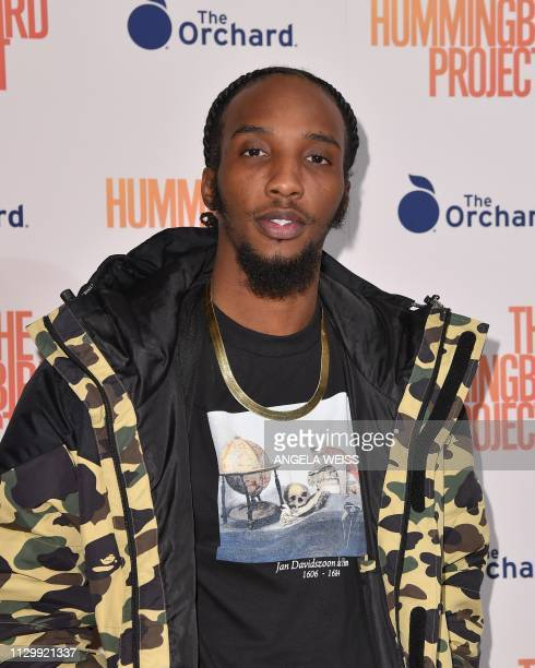 Rapper Chaine Downer Jr aka CJ Fly attends the 'The Hummingbird Project' New York screening at Metrograph on March 11 2019 in New York City