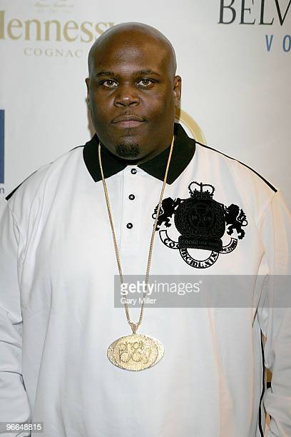 Rapper Chalie Boy on the red carpet for the Kenny Smith AllStar Bash at Deux Lounge on February 12 2010 in Dallas Texas