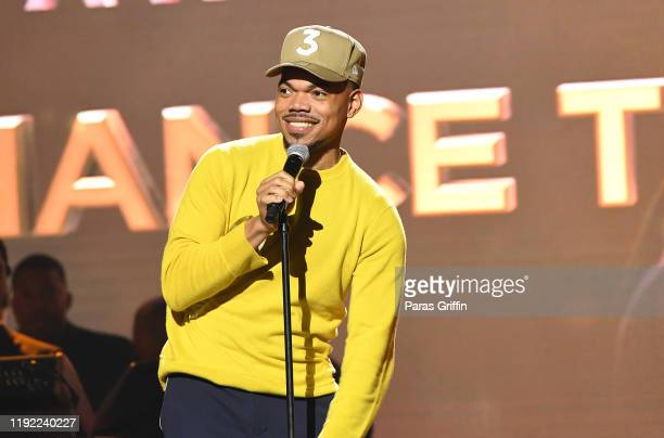 Rapper Chance The Rapper speaks onstage during 2019 Urban One Honors at MGM National Harbor on December 05, 2019 in Oxon Hill, Maryland.