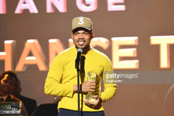 Rapper Chance The Rapper speaks onstage during 2019 Urban One Honors at MGM National Harbor on December 05 2019 in Oxon Hill Maryland