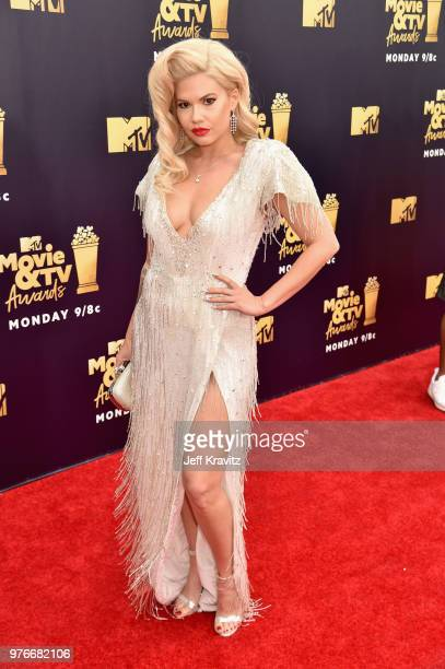 Rapper Chanel West Coast attends the 2018 MTV Movie And TV Awards at Barker Hangar on June 16 2018 in Santa Monica California