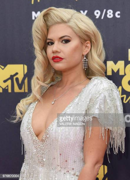 US Rapper Chanel West Coast attends the 2018 MTV Movie TV awards at the Barker Hangar in Santa Monica on June 16 2018 This year's show is not live It...