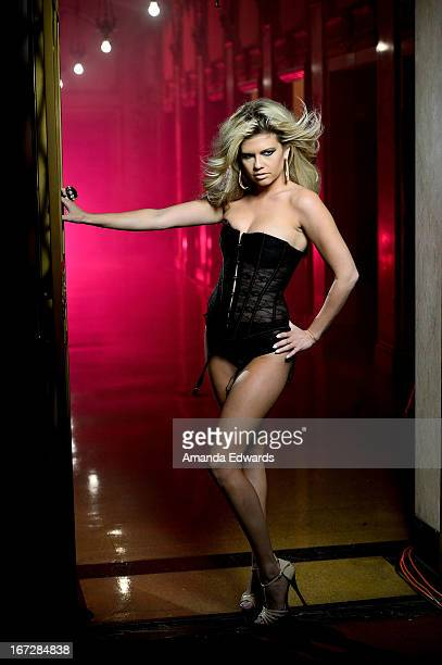 Rapper Chanel West Coast shoots the music video for her new single 'Karl Lagerfeld' on April 23 2013 in Los Angeles California