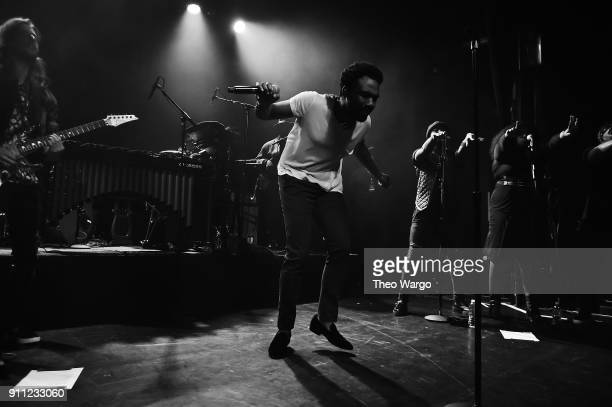 Rapper Childish Gambino performs onstage at Citi Sound Vault Presents Childish Gambino at Irving Plaza on January 27 2018 in New York City